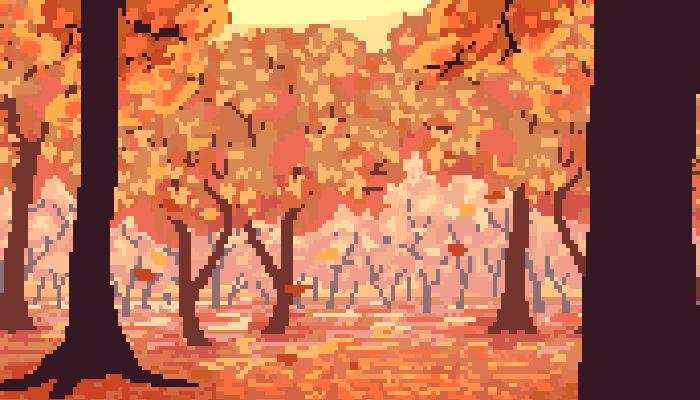 Pixel Autumn/Fall Background