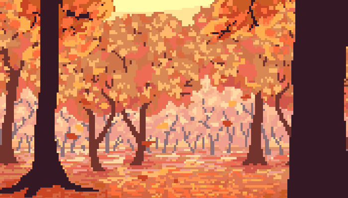 Pixel Autumn/Fall Background