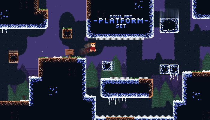 Pixel Art Platform Set