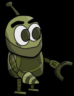 2D Cartoon Robot Character