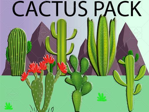 Cactus Pack – 2D Assets