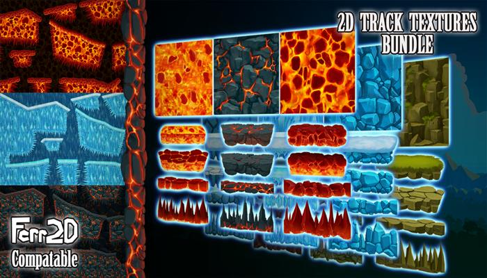 2D Platformer Tiling Textures Bundle