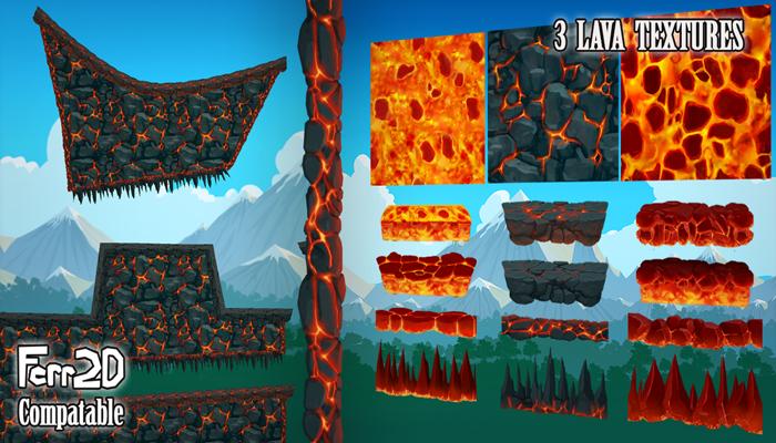 2D Platformer Tiling Textures – Lava