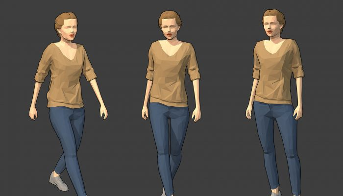 Rigged Lowpoly Female Character – Victoria