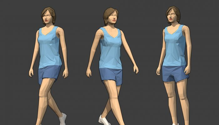 Rigged Lowpoly Female Character – Jodi