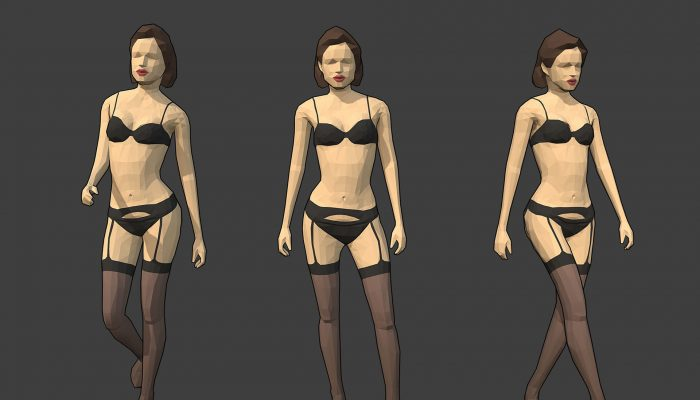 Rigged Lowpoly Female Character – Jane