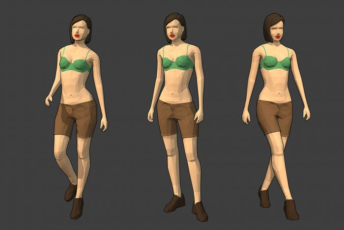 Rigged Lowpoly Female Character – Diana