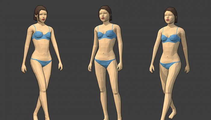 Rigged Lowpoly Female Character – Caren