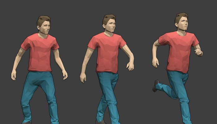 Rigged Lowpoly Male Character – Tim