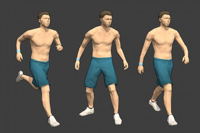 Rigged Lowpoly Male Character – Max