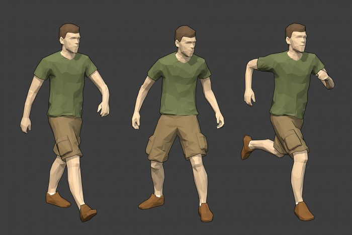 Rigged Lowpoly Male Character – Luke