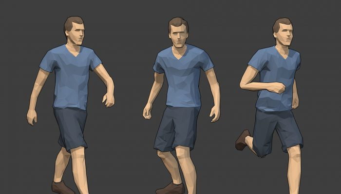 Rigged Lowpoly Male Character – Jack
