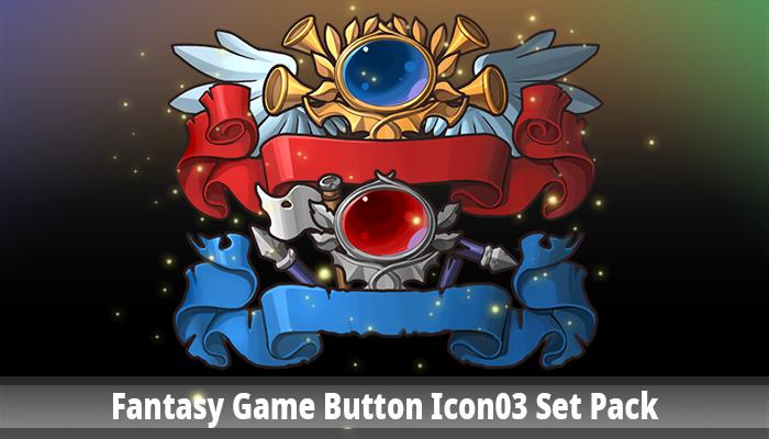 Fantasy Game Button Icon03 Set Pack