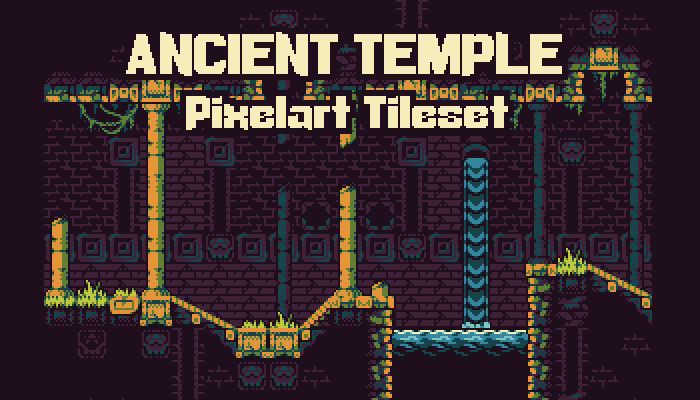 Ancient Temple – 16 Colour Tileset