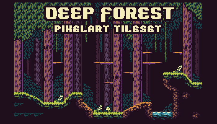 Deep Forest – 16 Colour Tileset