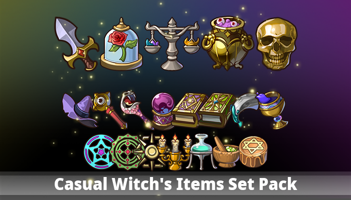 Casual Witch's Items Set Pack