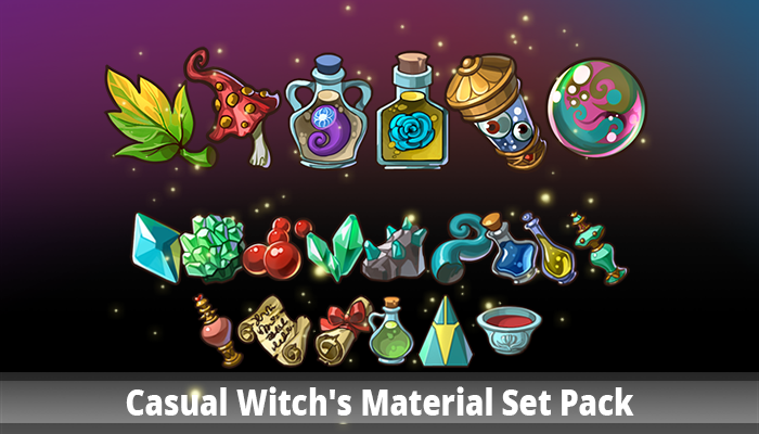 Casual Witch's Material Set Pack
