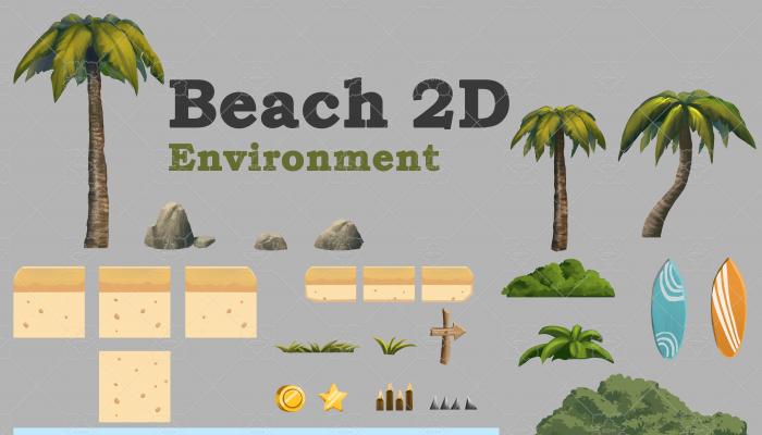 Beach 2D Environment