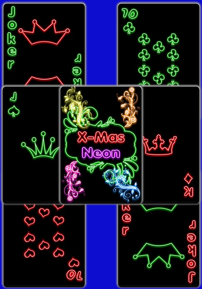 Black Neon Xmas Cards