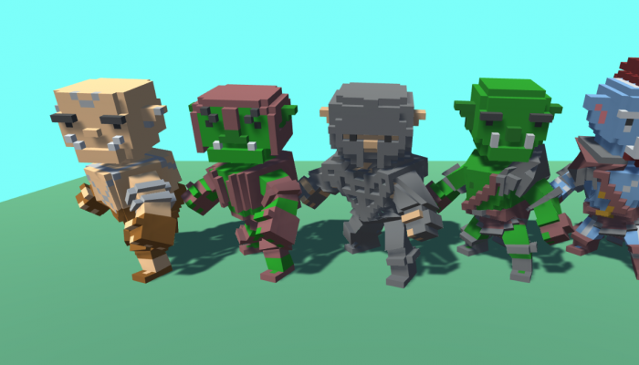 Voxel Fantasy Characters