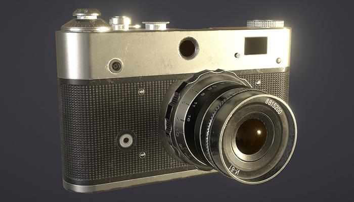 Realistic Vintage Camera