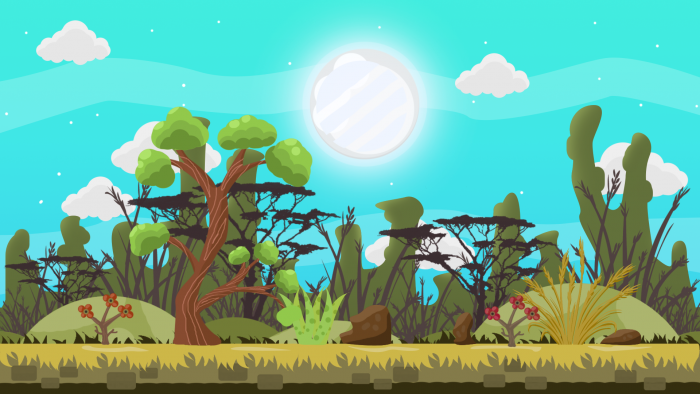2D Game Forest VECTOR BACKGROUND 2