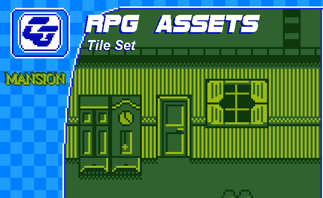 RPG Tile Set 'Mansion' Gameboy