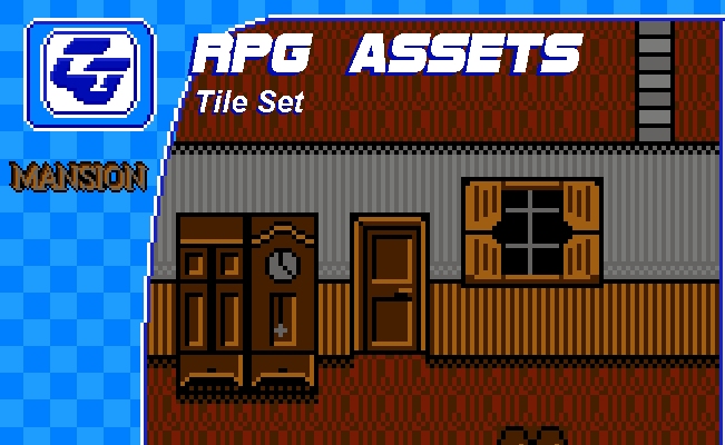 RPG Tile Set 'Mansion' NES