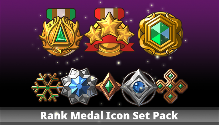 Rank Medal Icon Set Pack