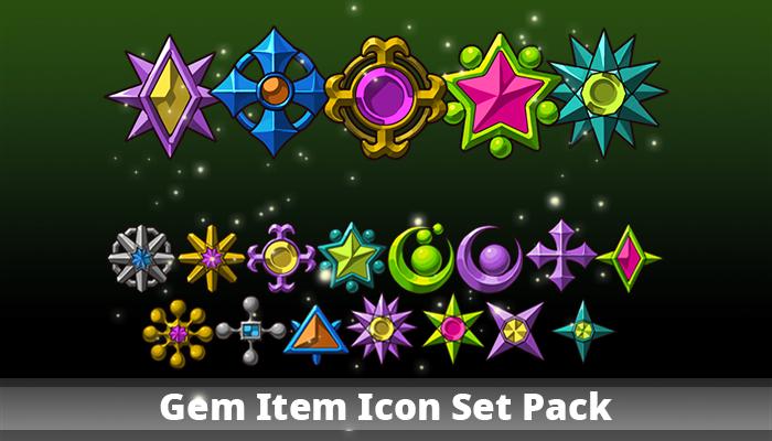Gem Item Icon Set Pack