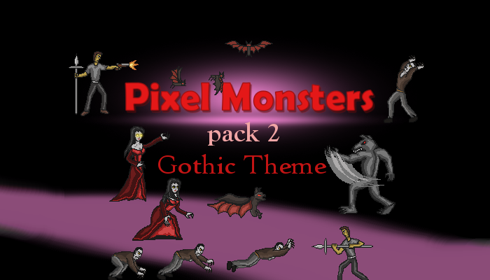Pixel Monsters pack 2 – Gothic theme