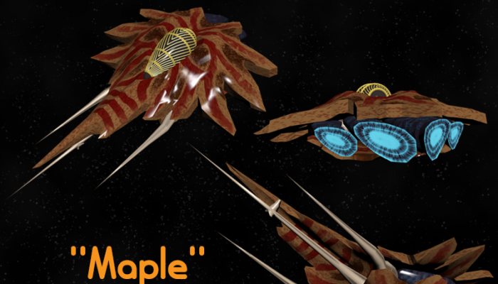 """Maple"" Organic Space Fighter"