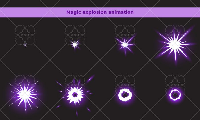 Purple magic explosion 1
