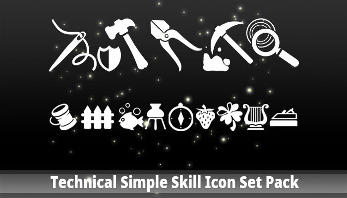 Technical Simple Skill Icon Set Pack