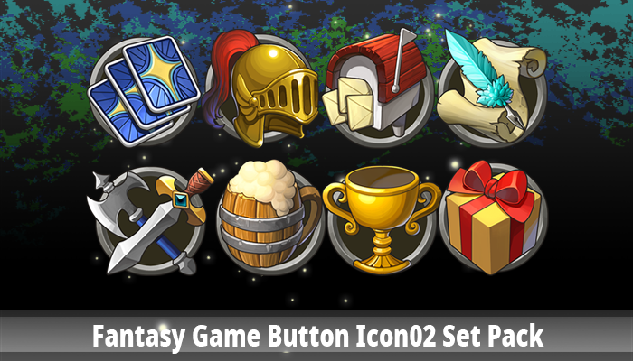 Fantasy Game Button Icon02 Set Pack