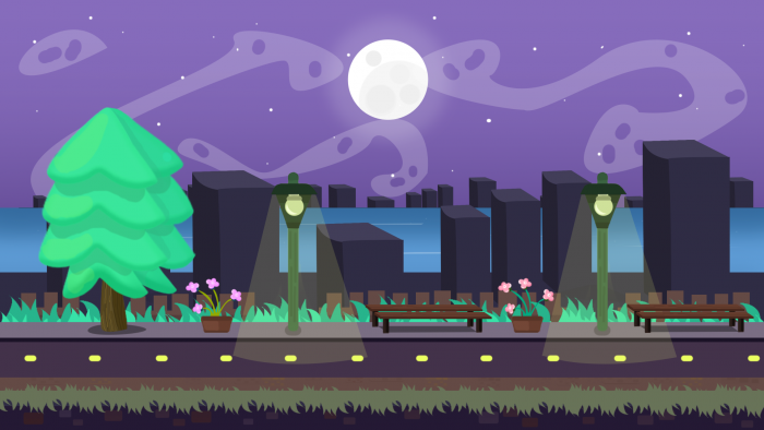 City 2D Game VECTOR BACKGROUND