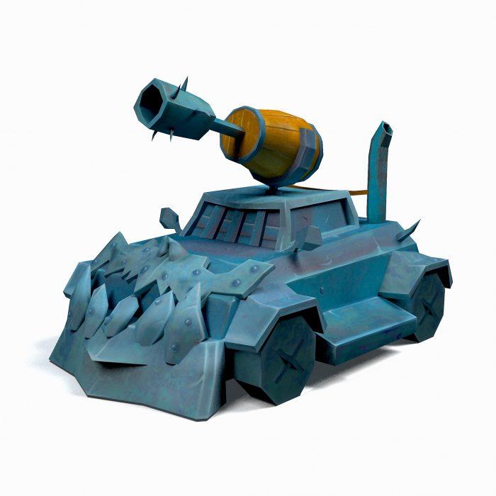 War Tank Lowpoly Low-poly 3D model
