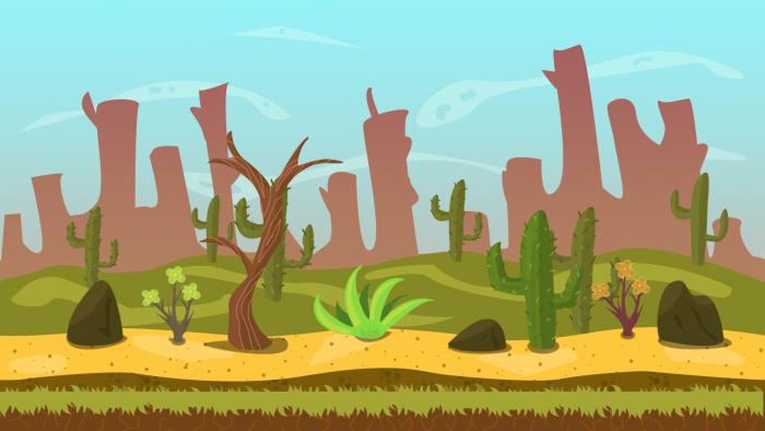 Desert 2D Game VECTOR BACKGROUND