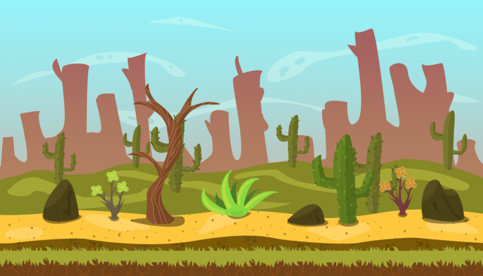 Desert 2D Game VECTOR BACKGROUND