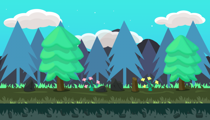 Forest 2D Game VECTOR BACKGROUND