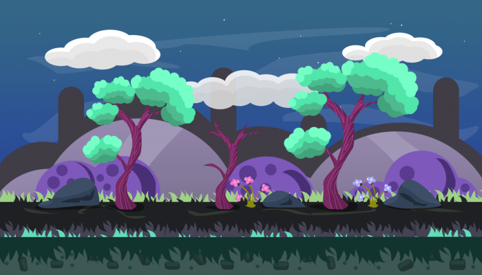 2D Game Fantasy VECTOR BACKGROUND