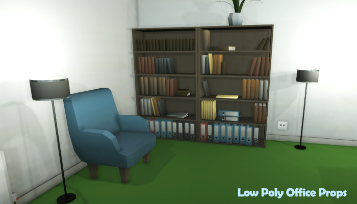 Low Poly Office Props – Full – Pro