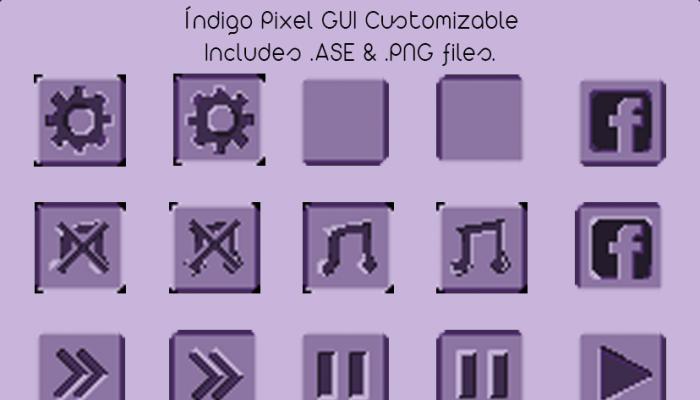 Índigo Pixel GUI Pack