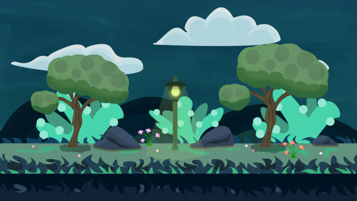 GRASS PLAIN VECTOR Game BACKGROUND