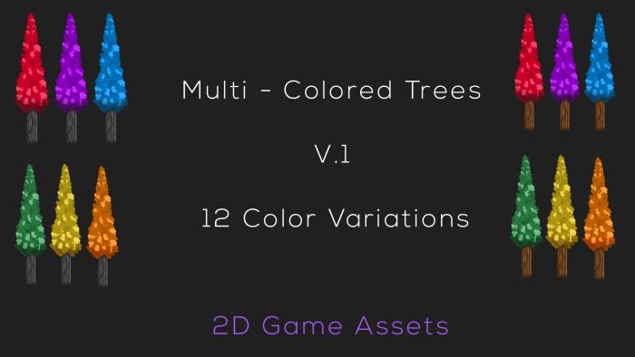 Skinny Trees – Multi Colors