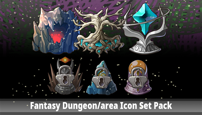 Fantasy Dungeon/Area Icon Set Pack