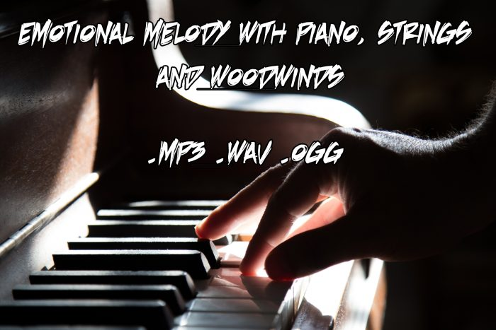 Emotional melody with piano, strings and woodwinds