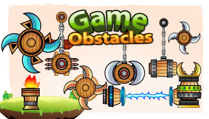 2D Game Obstacles Sprites