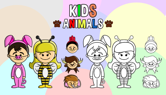 Kids – Animals Pack (PartyHead Kiddos)