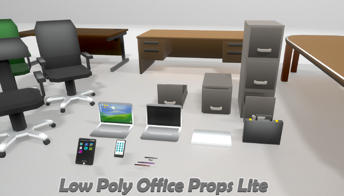 Low Poly Office Props – LITE